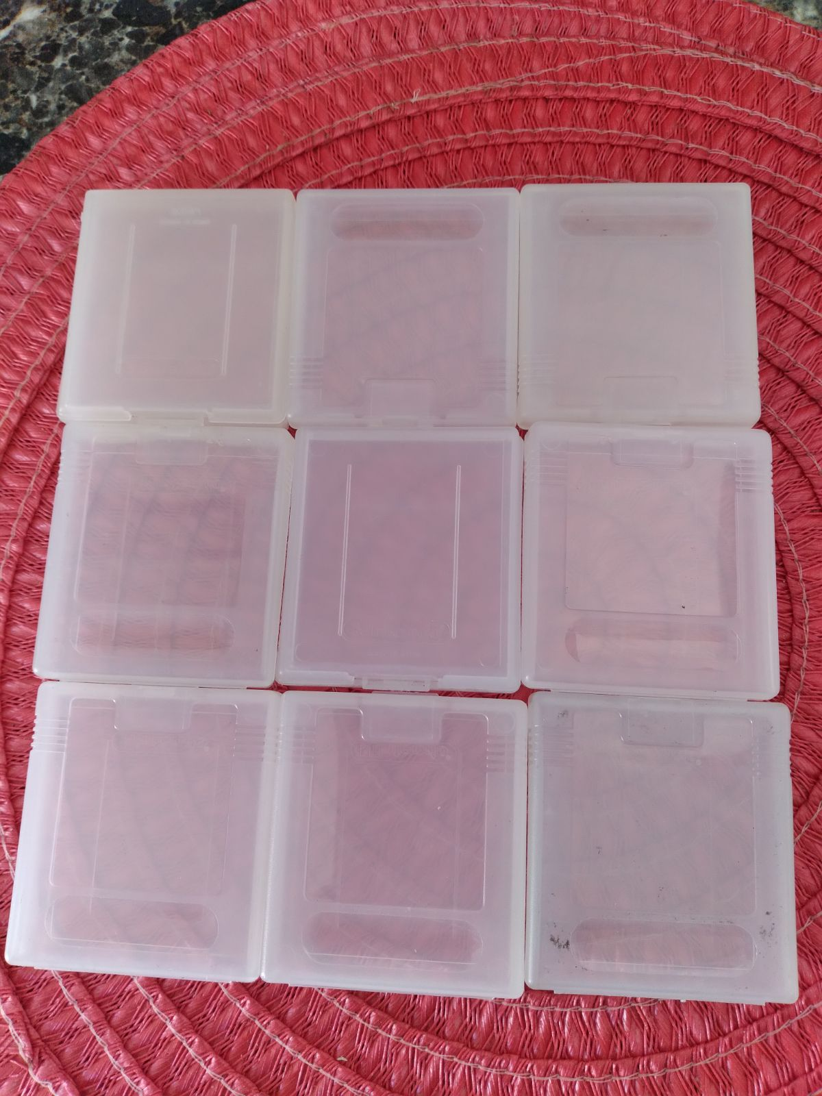 9 oem GB plastic game  cases