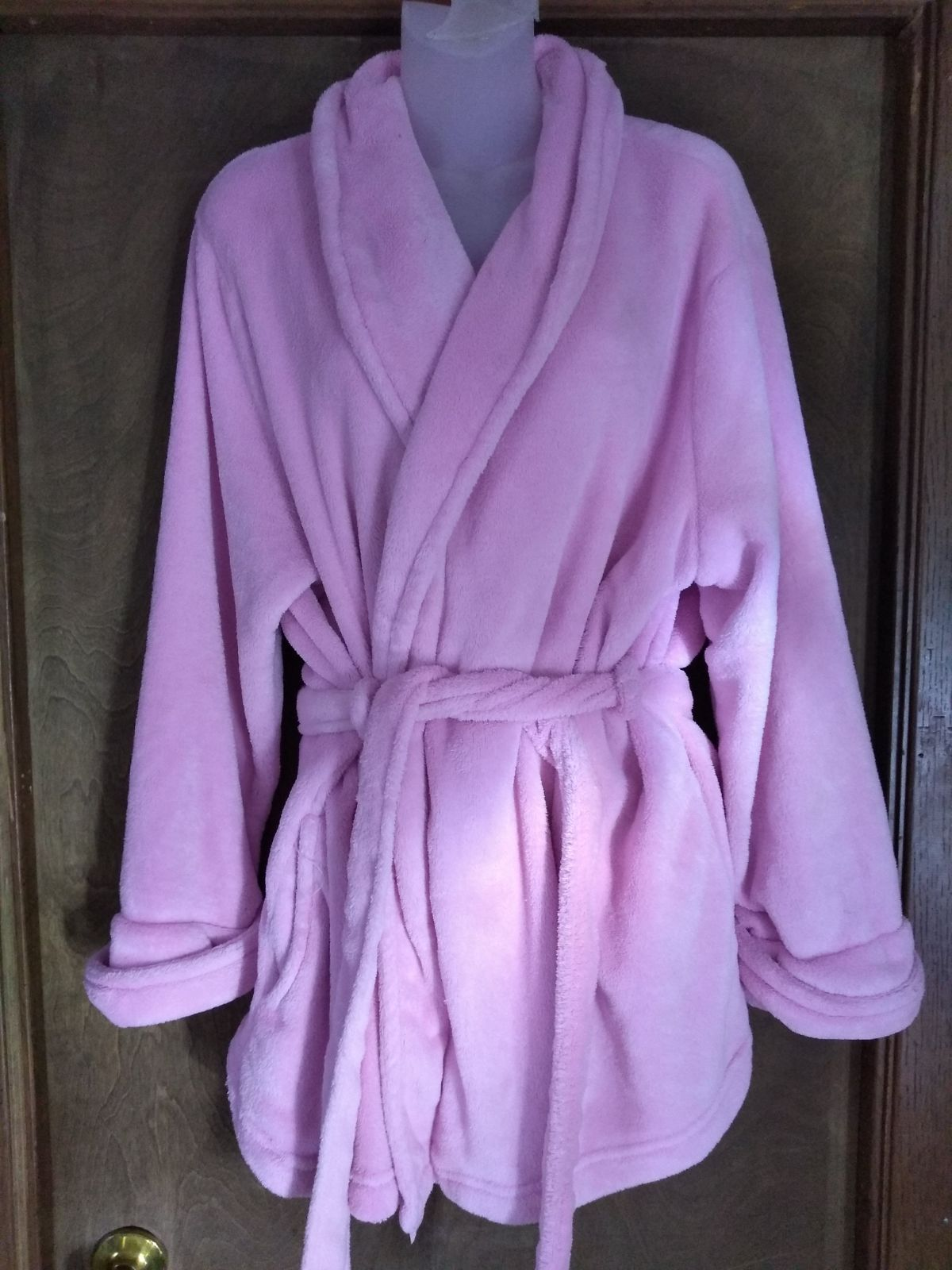 Adonna womens plush bath robe tie 1X