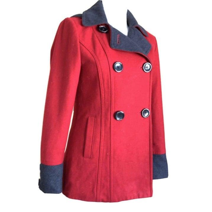Nautica Jacket Pea Coat Red Size XS Hood