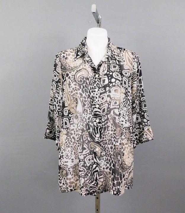 Kim Rogers Petite Women Shirt Black 16P