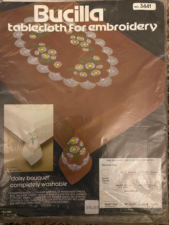 NIP Bucilla Tablecloth For Embroidery