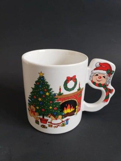 Vintage Christmas Ceramic Coffee Tea Mug