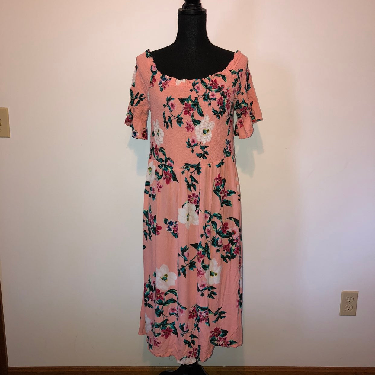 Dorothy Perkins Floral Pink Midi Dress