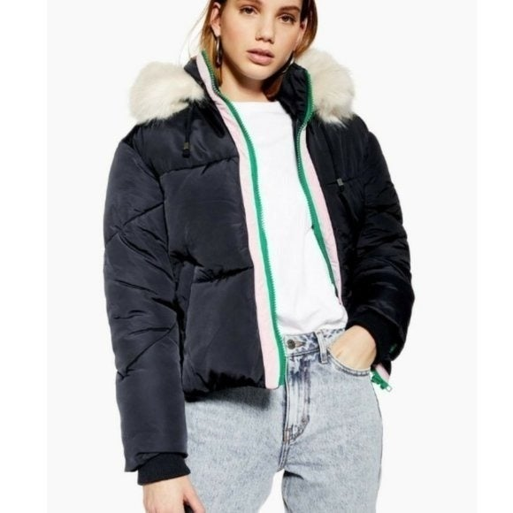 Topshop Hooded Ski Jacket Puffer 4
