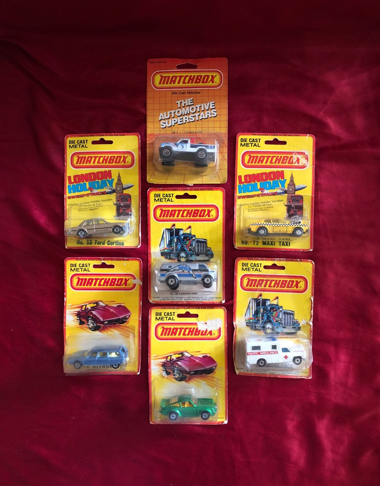 1980 , 81 ,86 Vintage Matchbox lot