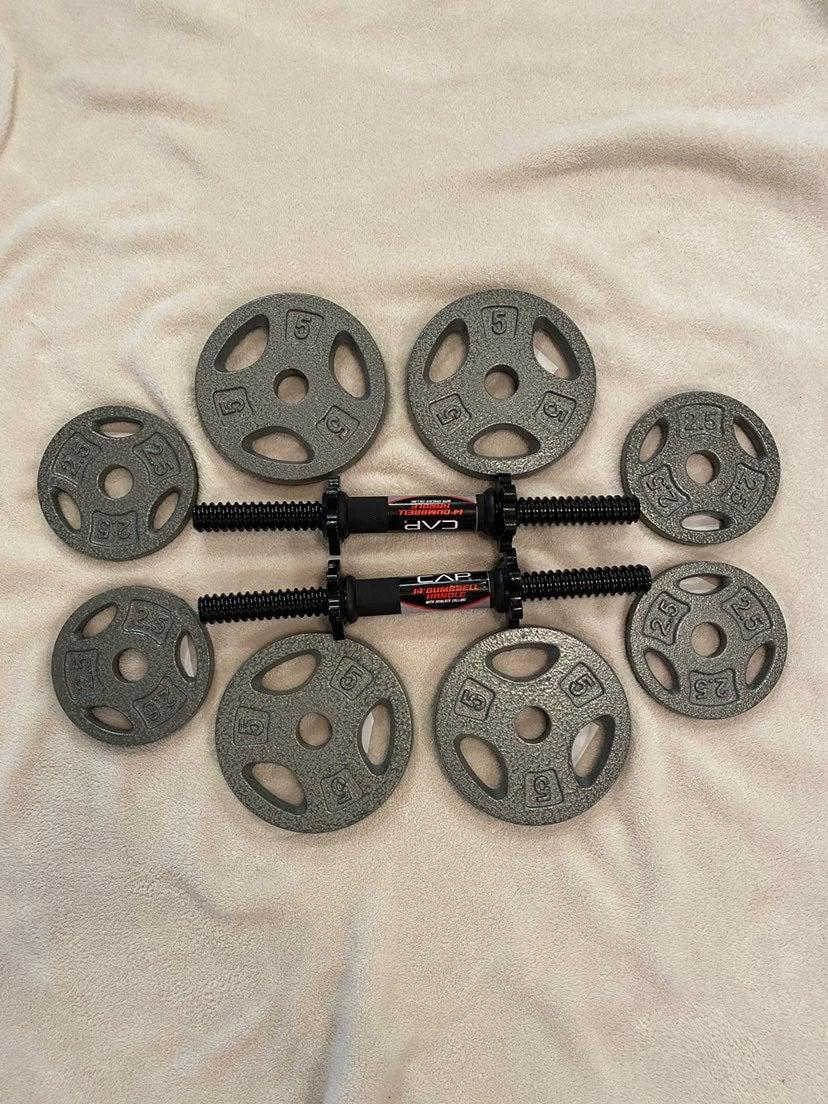 CAP Dumbbell 2.5/5 lb Plates & Handles