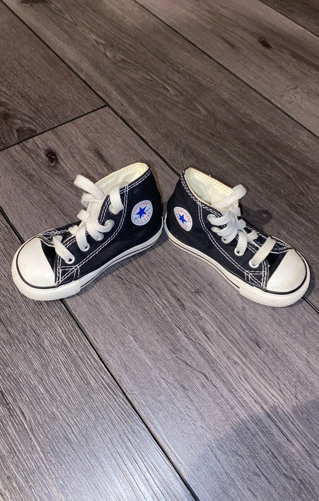 Blue Converse toddler sneakers size 5