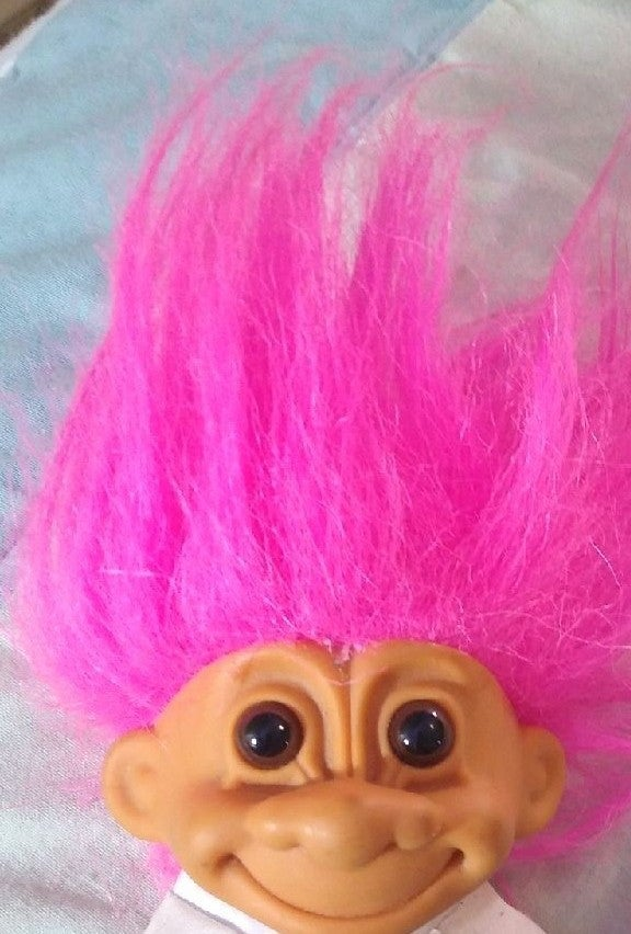 Russ Pink Haired Karate Troll Doll