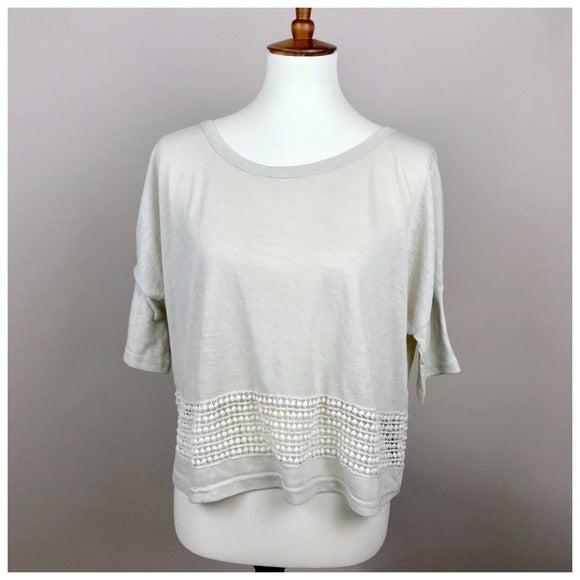 Unio Beige Crochet Crop Top