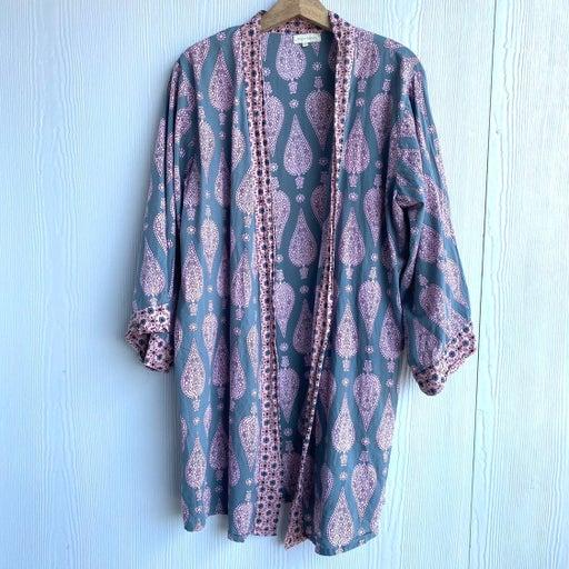 World Market Kimono Cardigan Robe Top