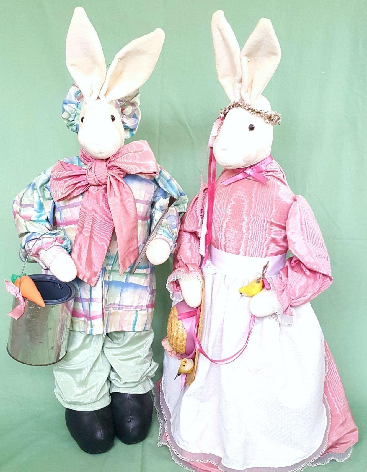 "2 BIG 30"" Pink Easter Bunny Rabbit Decor"