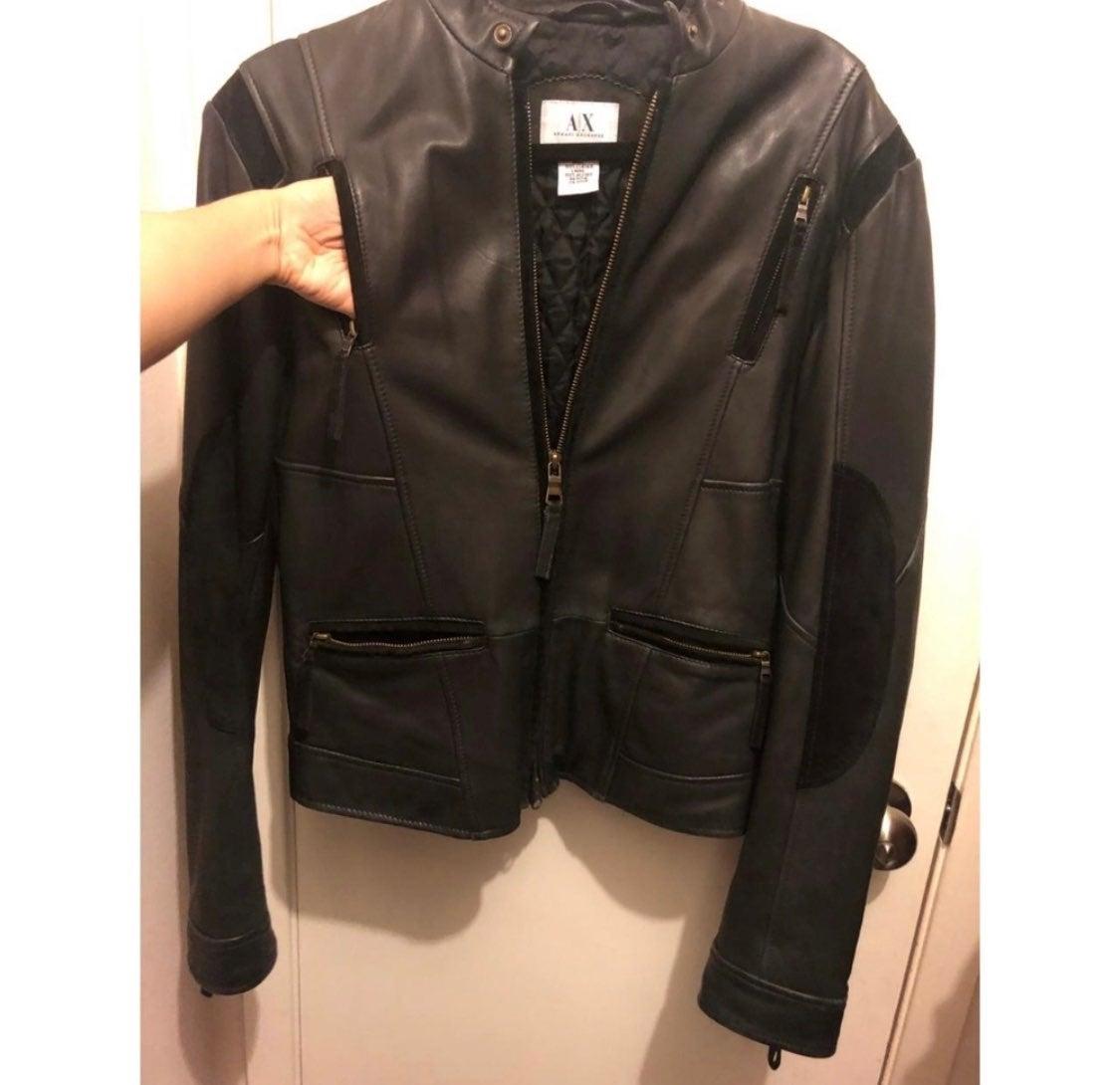 Armani Exchange leather jacket.