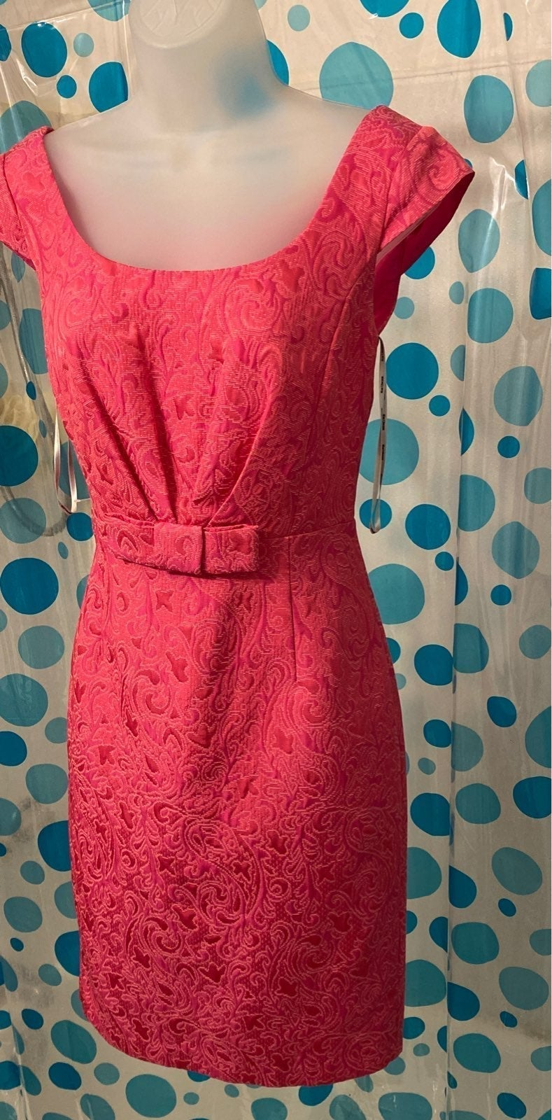 Kay unger pink dress size 4