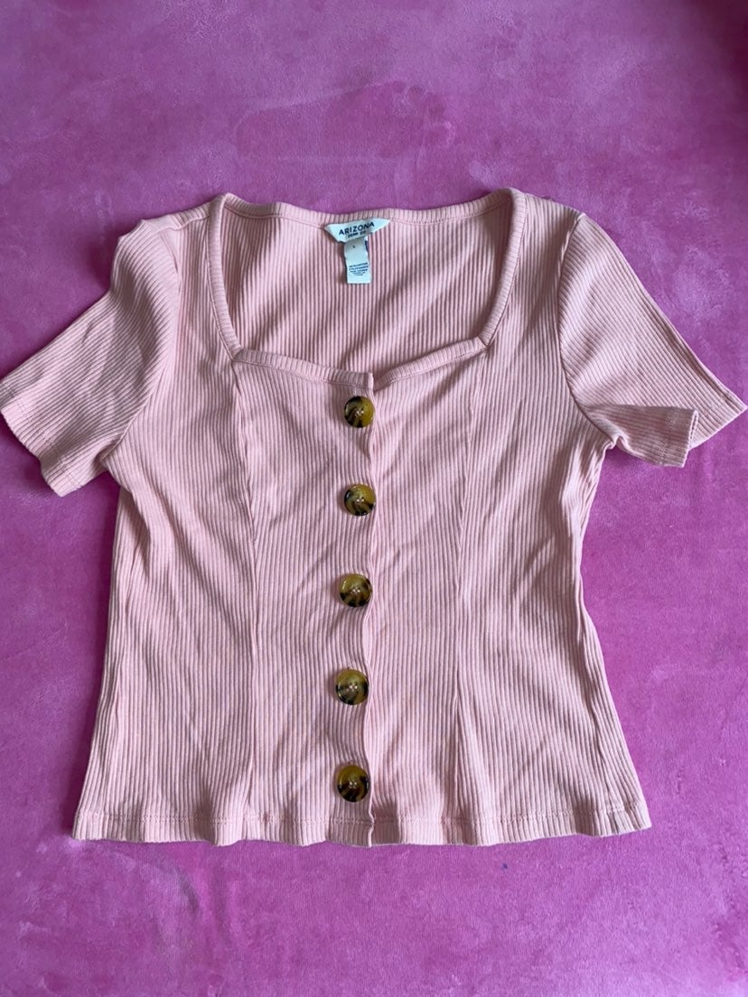 Mauve SweetHeart Neckline Ribbed top