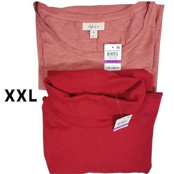 Turtleneck & Long Sleeve T Shirt Bundle