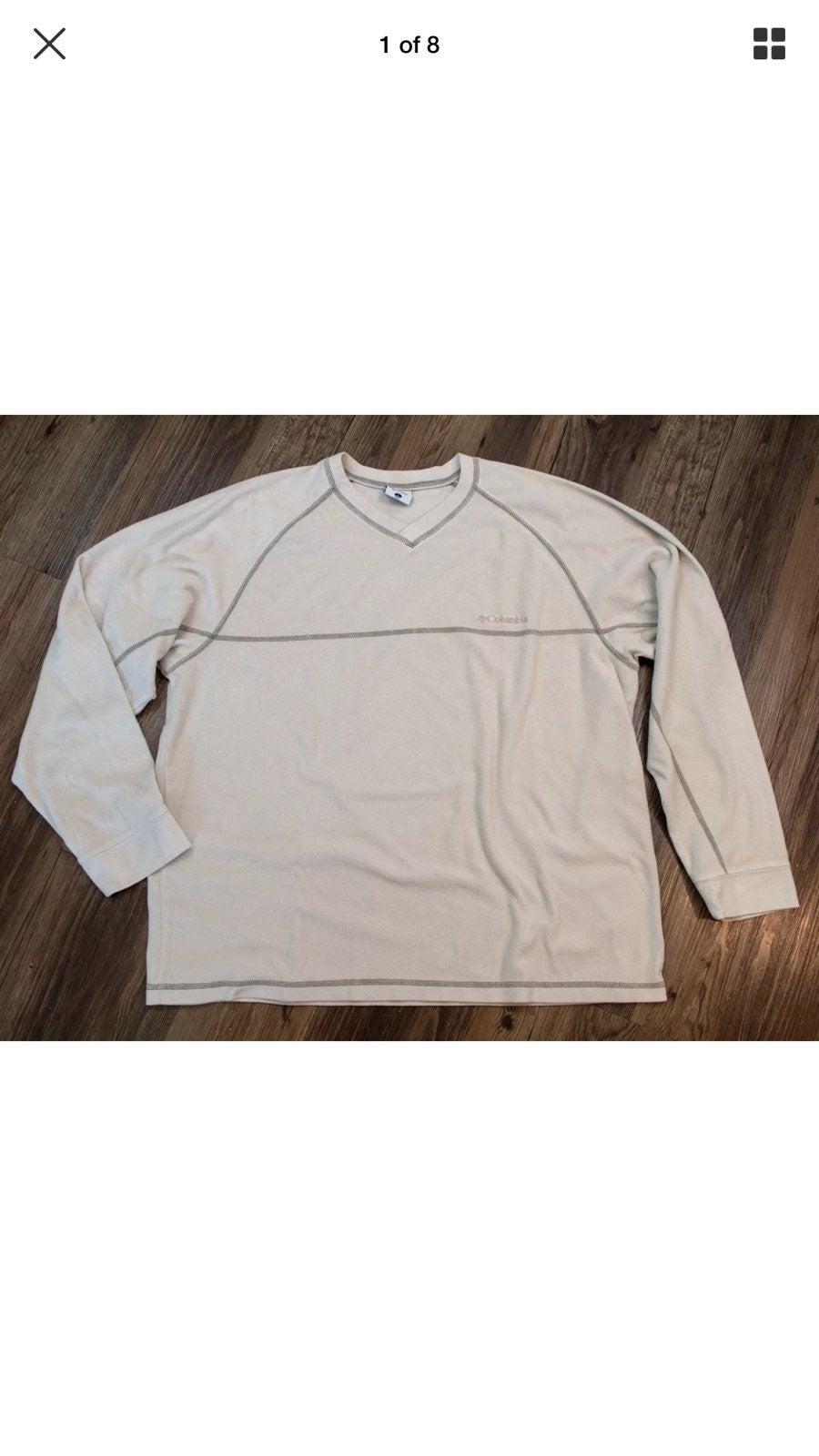 Columbia Men's Size L Beige Pullover