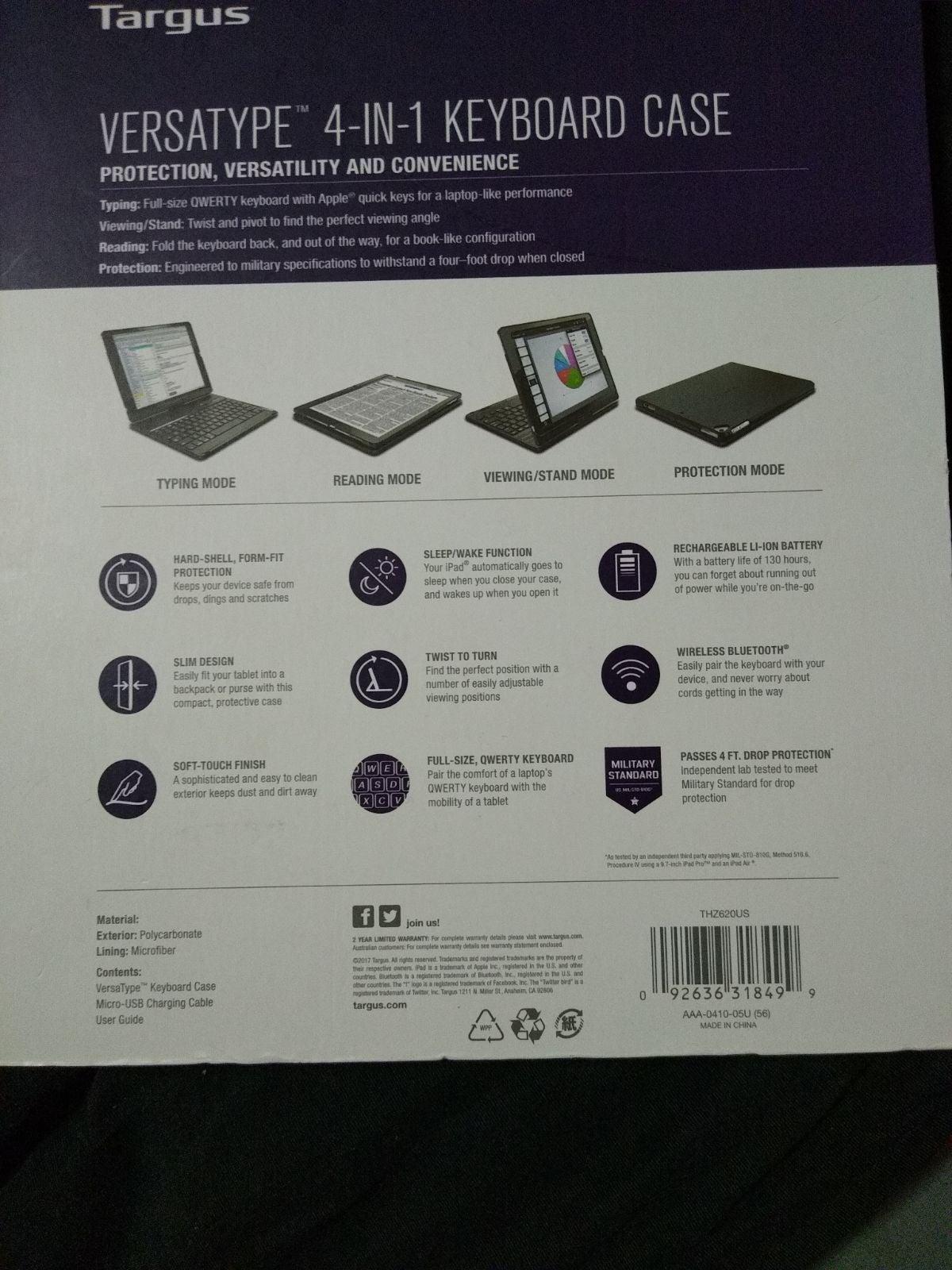 Versatype 4 in 1 Keyboard case