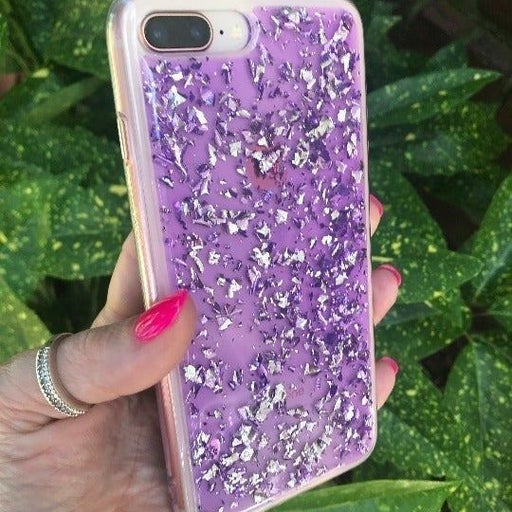 NEW Purple Glitter Case iPhone 7+/8+