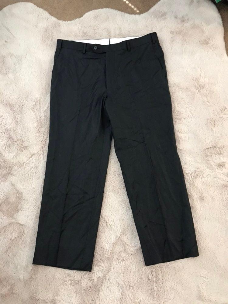 Paul Stuart Super 110's Grey Wool Pant