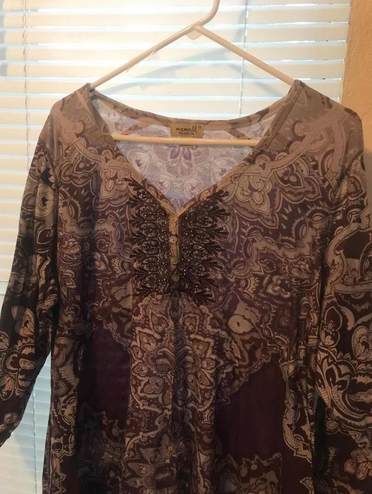 one world sequin knit tops