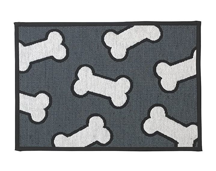 Scattered bones tapestry placemat
