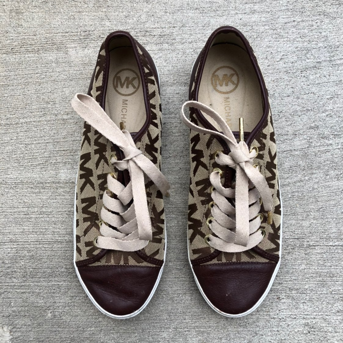 Michael Kors Leather & Canvas Sneakers