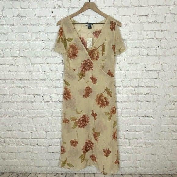 NWT Moda International Silk Floral Dress