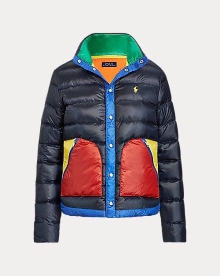 Ralph Lauren Colorblocked Down Jacket