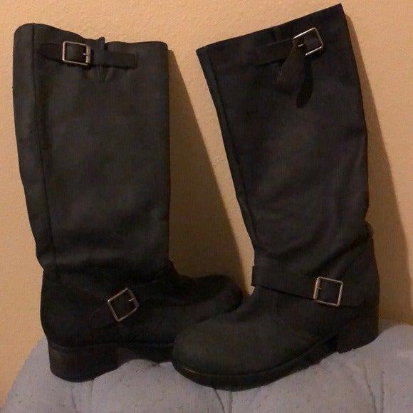 Kensie Women's Black Neverland Boots 8.5