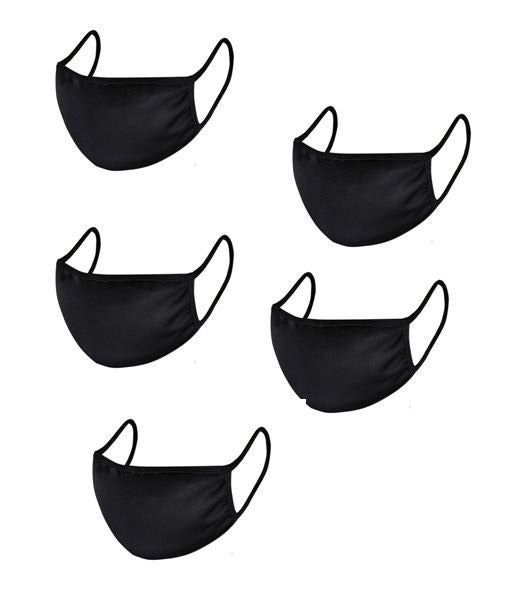 set of 5 -  handmade washable face cover