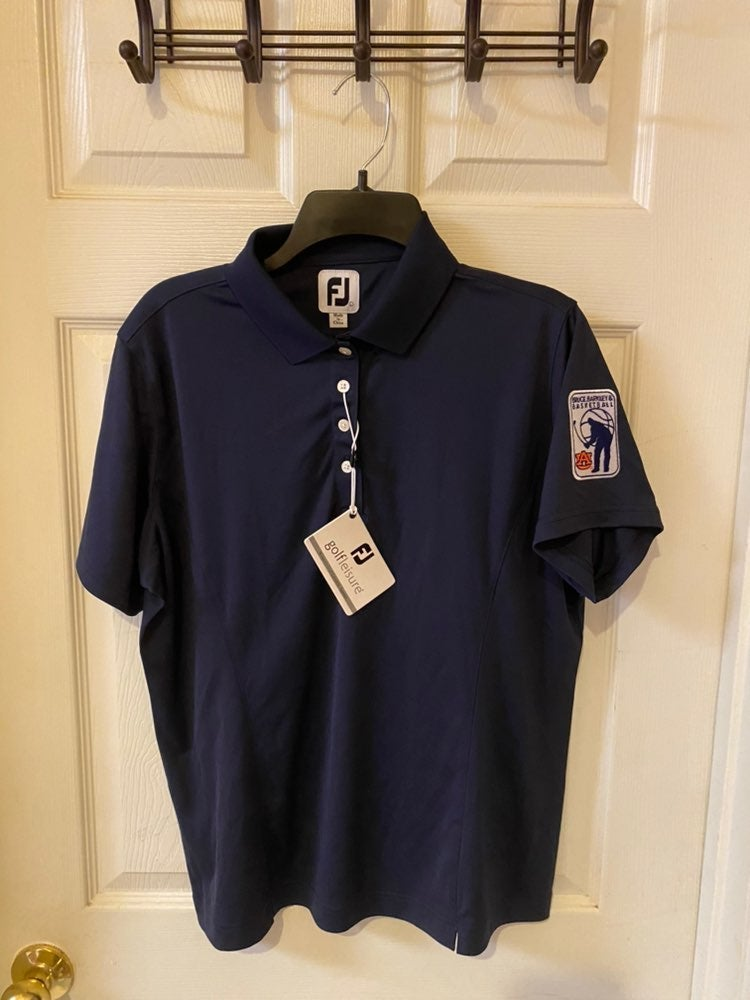 FootJoy Womens Large Golf Shirt Auburn