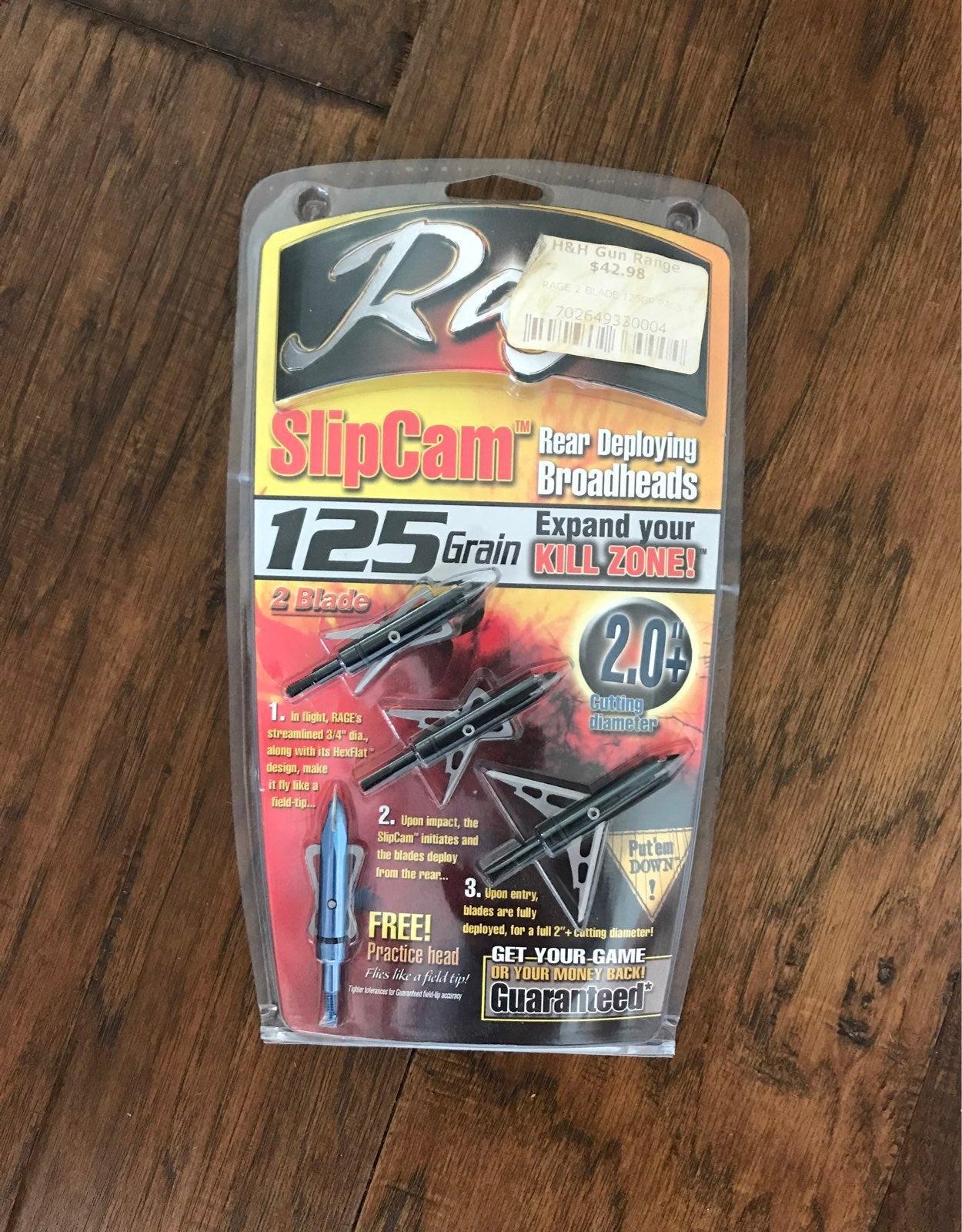 Rage SlipCam Rear Deploying Broadheads
