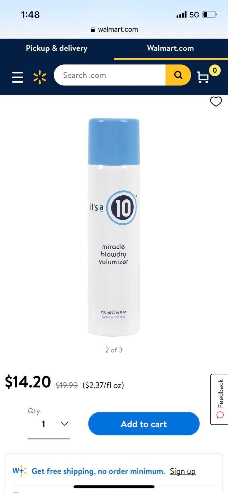 Its a 10 blowdry volumizer hair spray