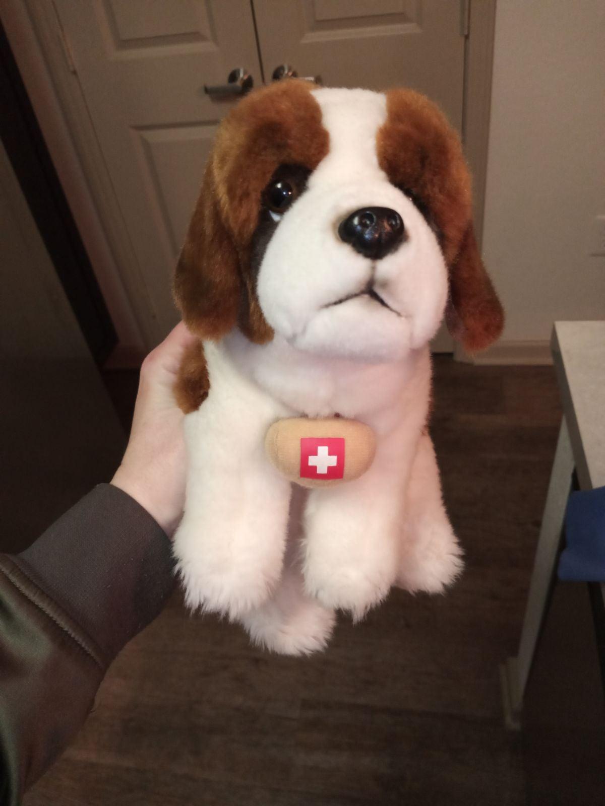 Toys R Us St Bernard Puppy Dog Barrel