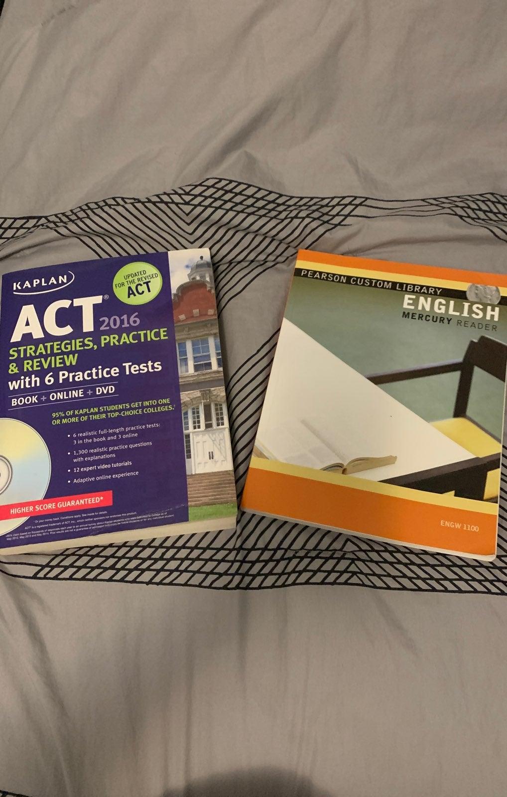 Kaplan ACT Prep Book & Pearson English