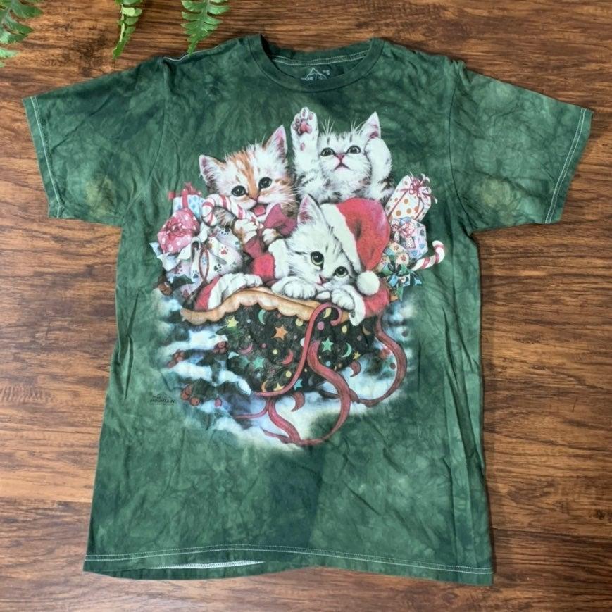 Cat T Shirt Mountain Tie Dye