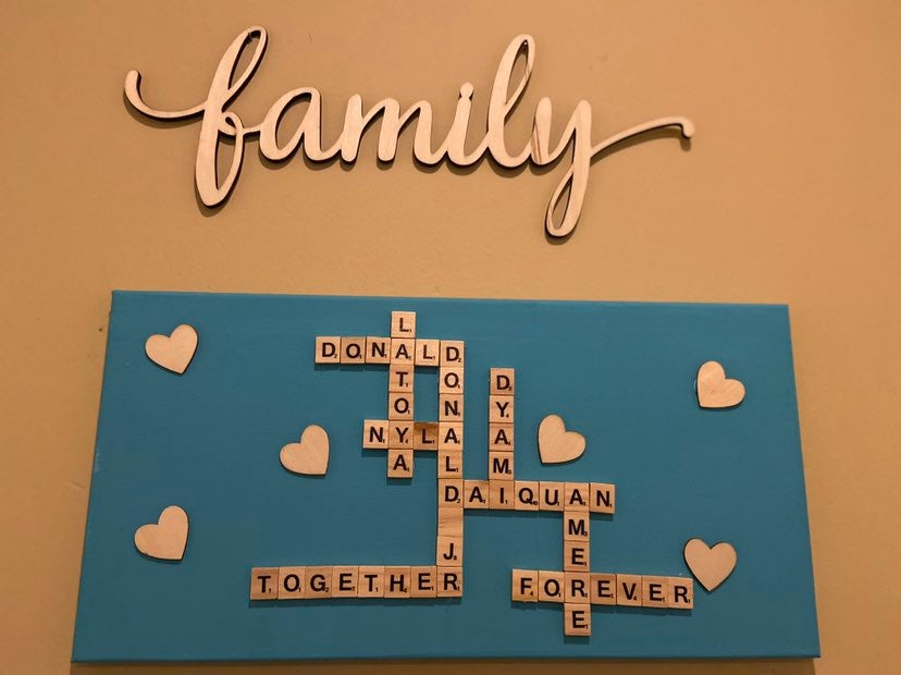 Scrabble Family Signs