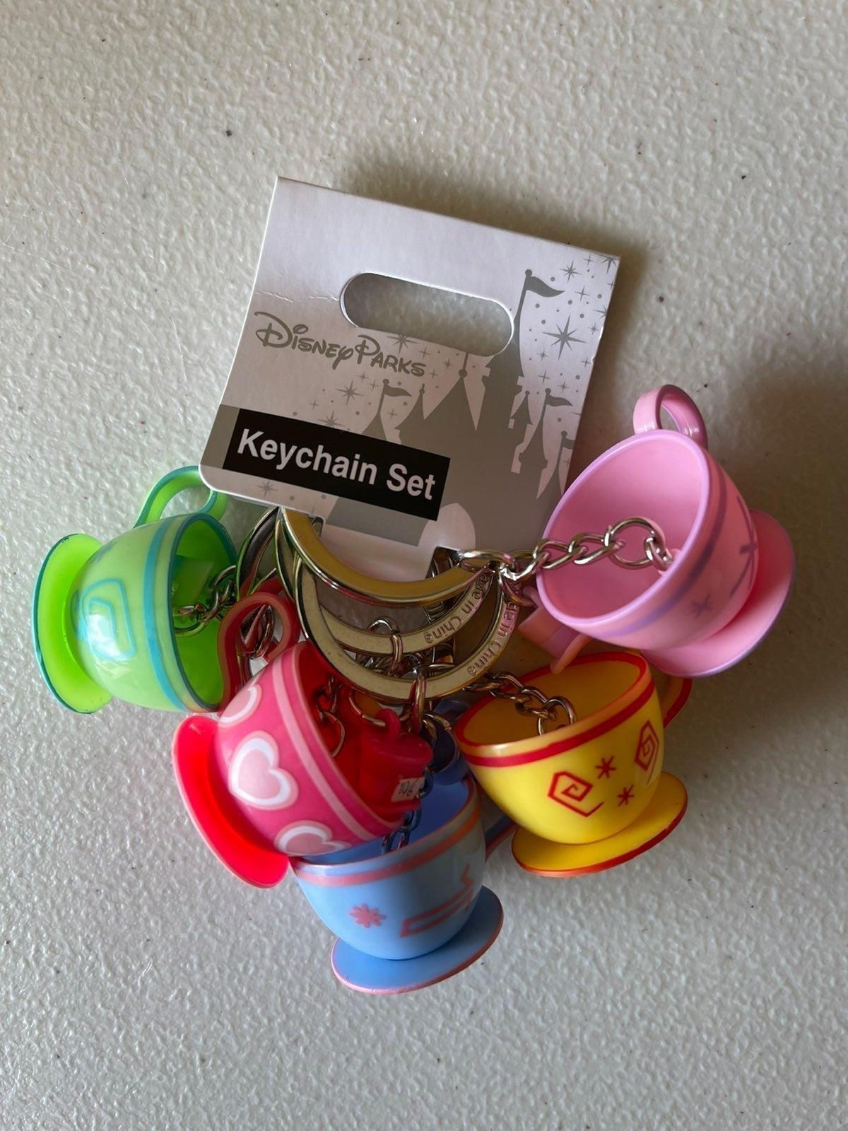 Alice Wonderland Teacup Keychain Set