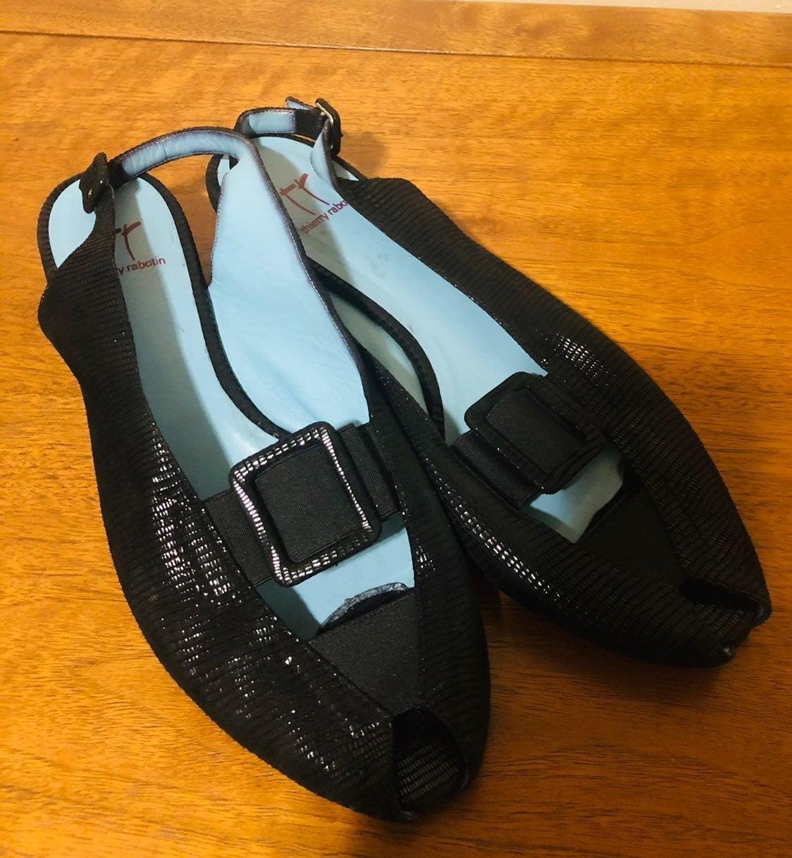 Thierry Rabotin Black Sandals 10.5