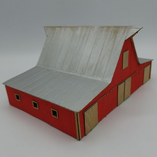 HO Wood Barn - Craftsman Built-Up