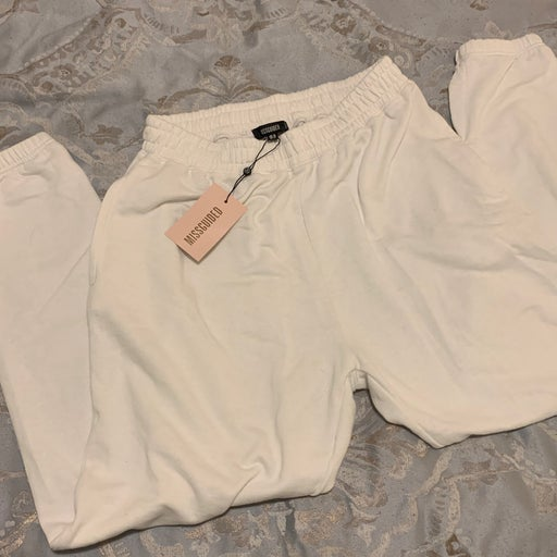 Missguided Oversized White Sweatpants