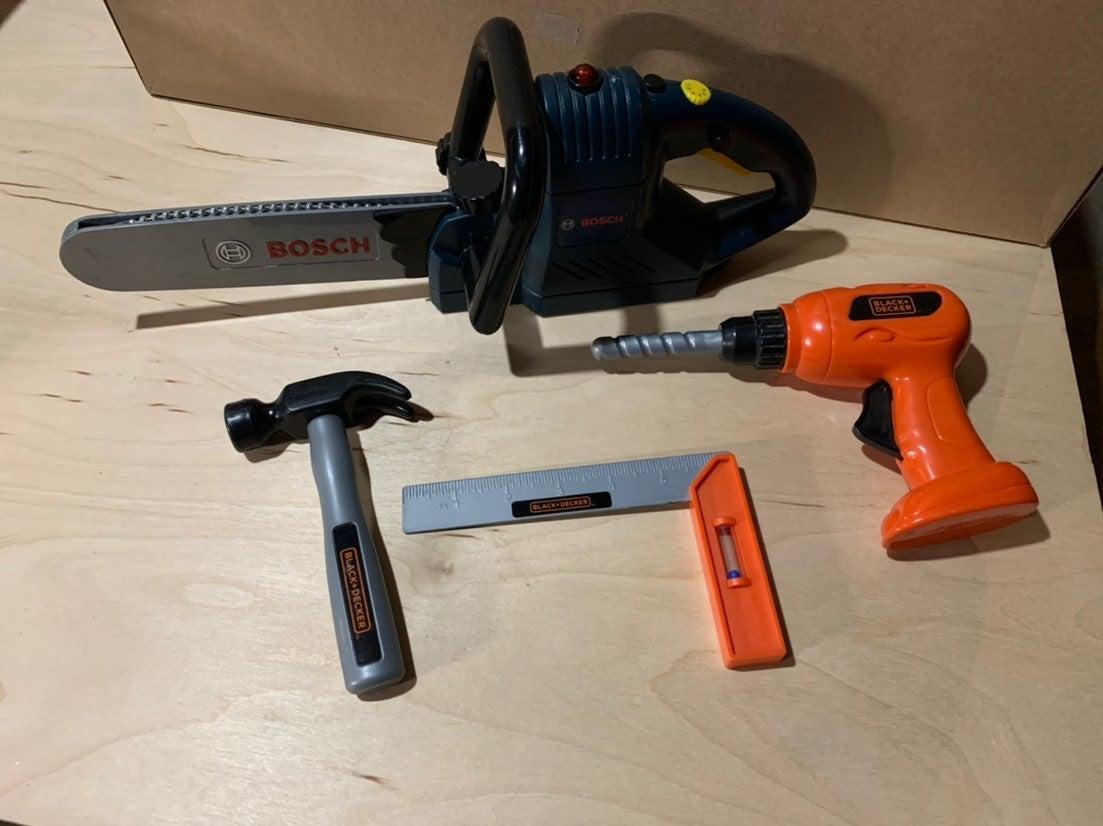 Boys toy tools