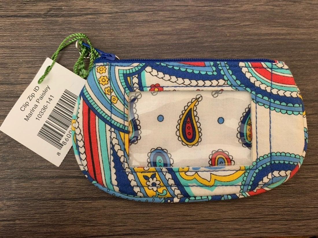 Vera Bradley NWT Zip ID Wallet clip zip