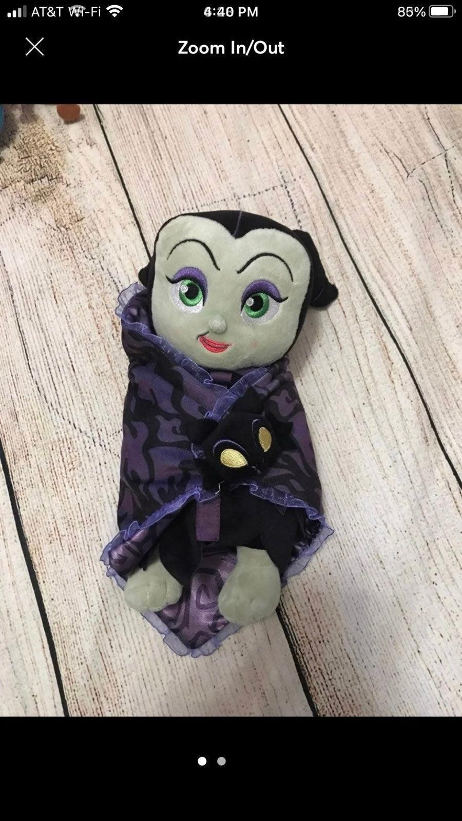 "Disney Parks Maleficent 12"" plush baby"