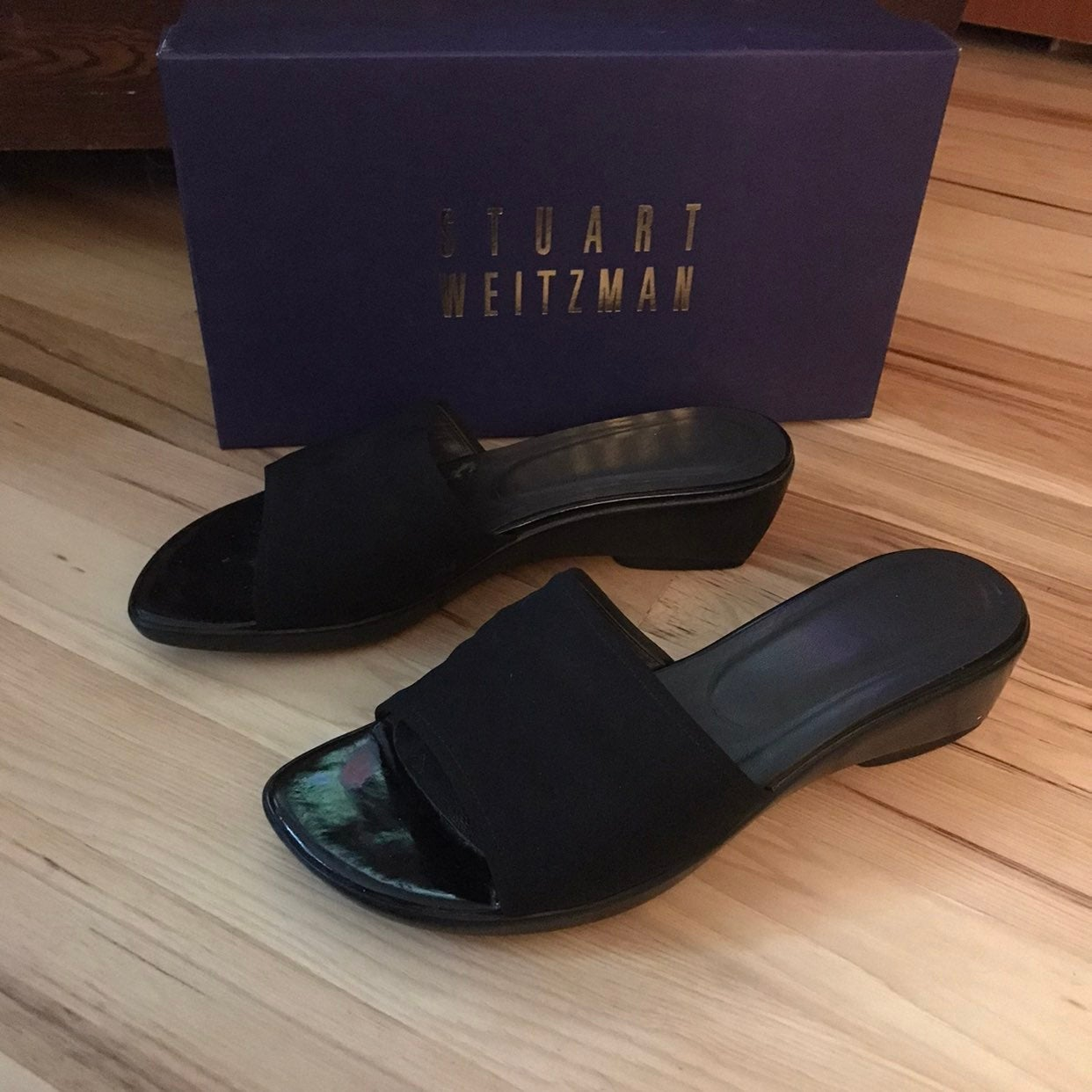 Stuart Weitzman black Sandals 7.5 C