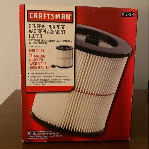 Shop vac replacement filter