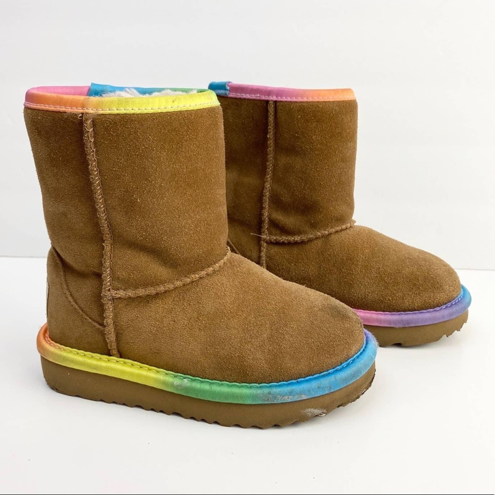 Ugg Short II Rainbow Boots Toddler 8