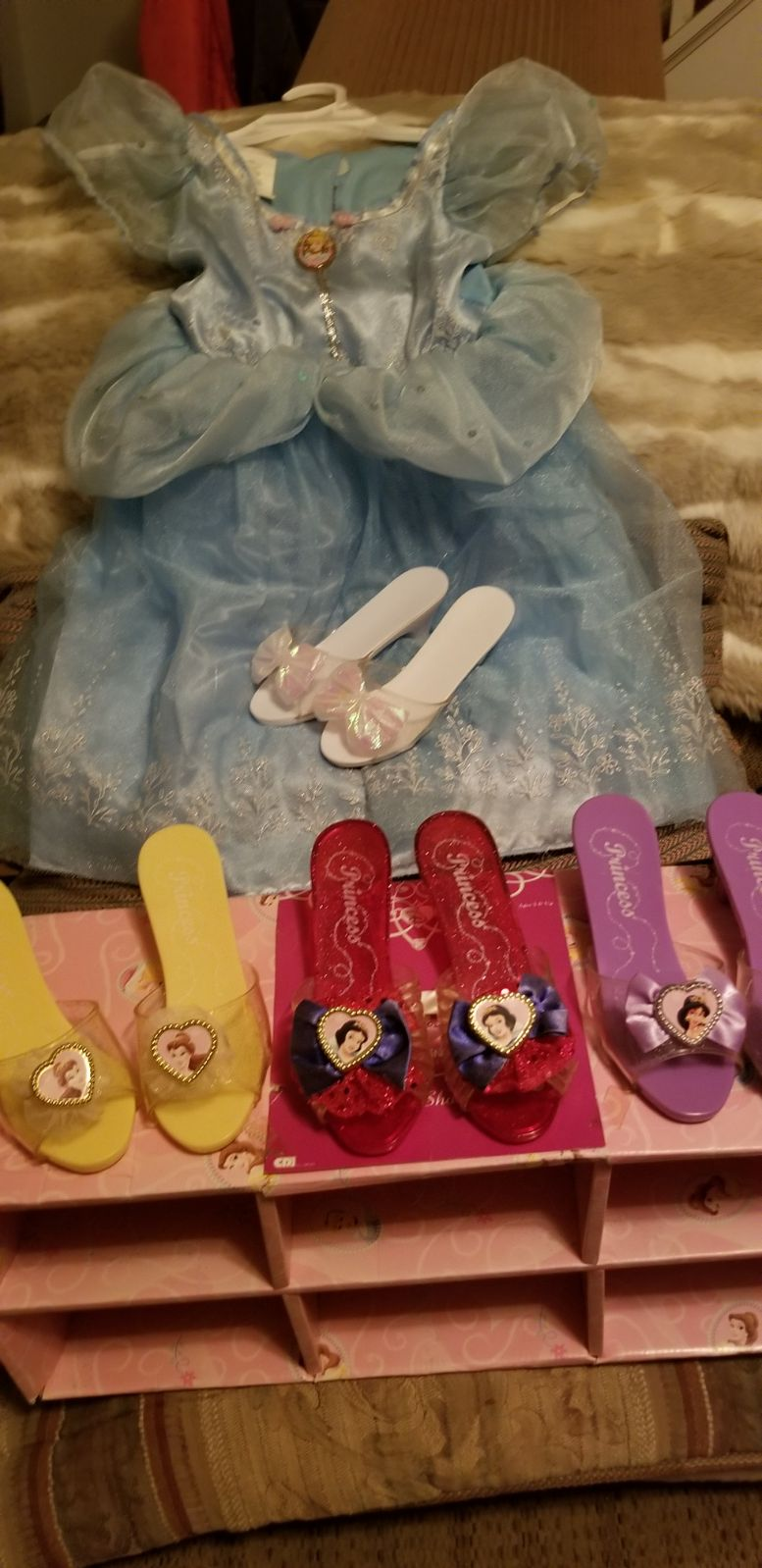 LQQK Cinderella Dress Shoes and Dress