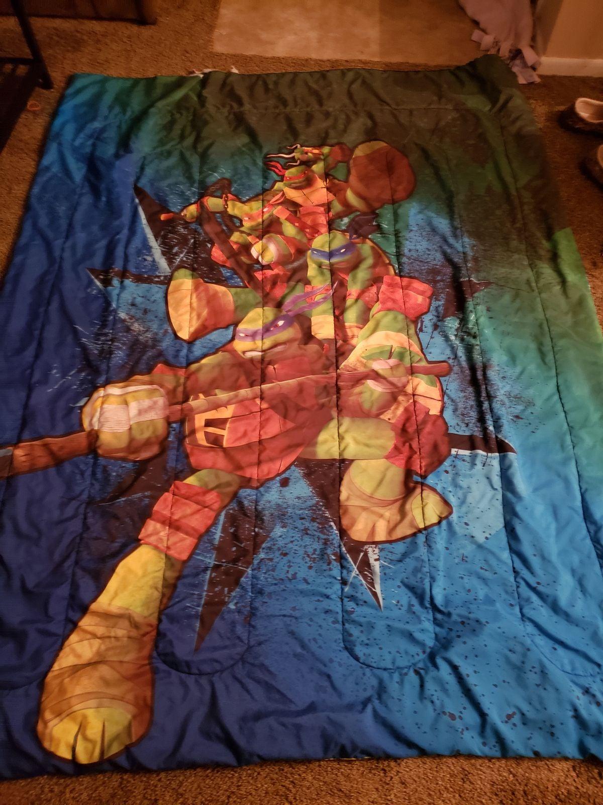 Ninja turtle twin size reservable comfor