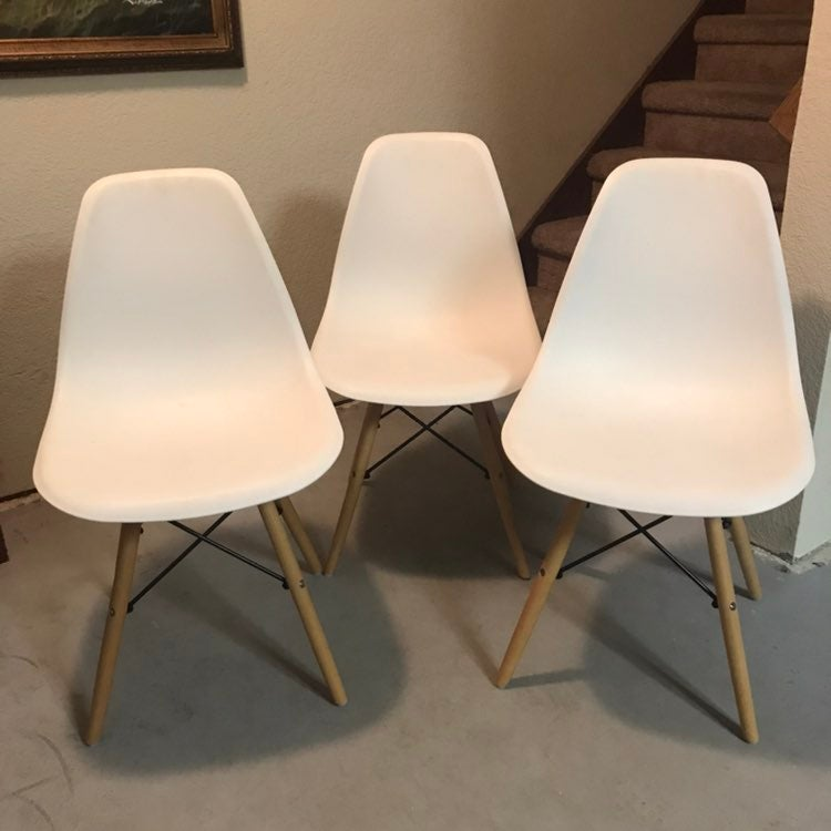 3 Mid Century Modern Eames Style Chairs!